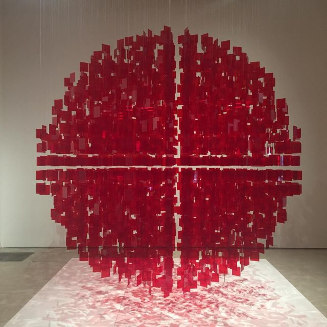 The Red Sphre by Julio Le Pars perezartmuseum artcinetic contemporaryarthellip
