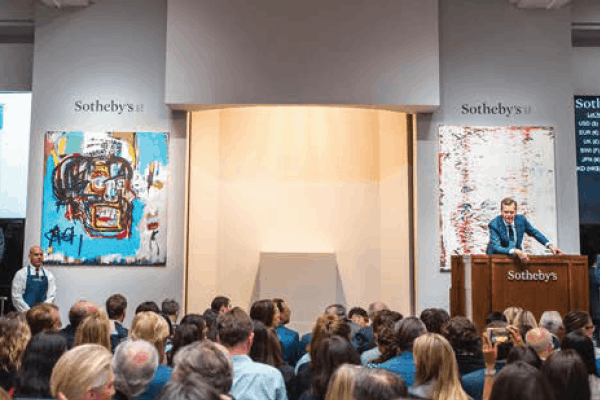 A Basquiat Skull Painting Breaks $100M at Sotheby's