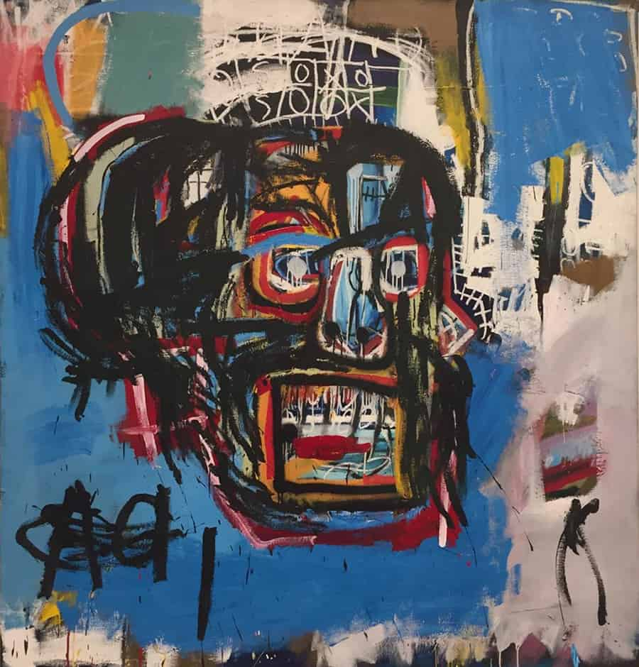 The most expensive artwork of Basquiat sold to japanese collector Maezawa for $ 110.5 million at Sotheby's in 2017 on show at Louis Vuitton Foundation
