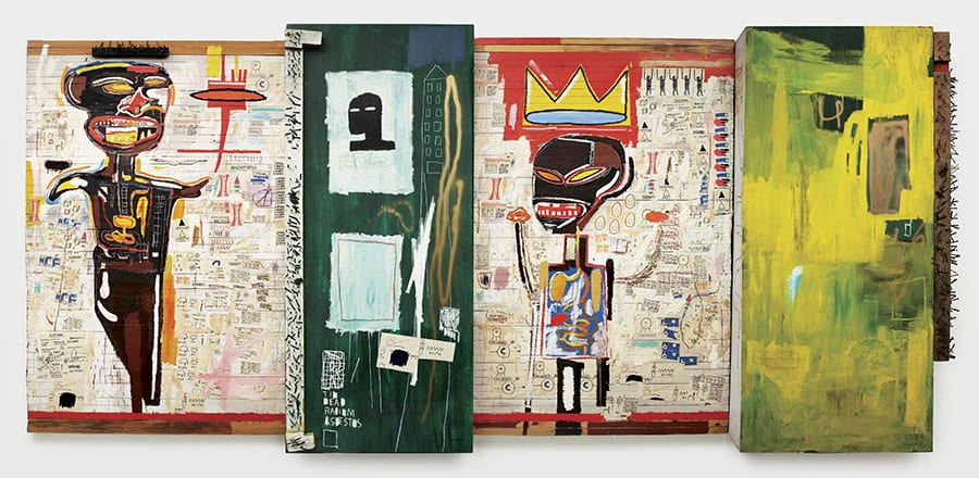 An artwork of Basquiat from the collection of Louis Vuitton Foundation in Paris