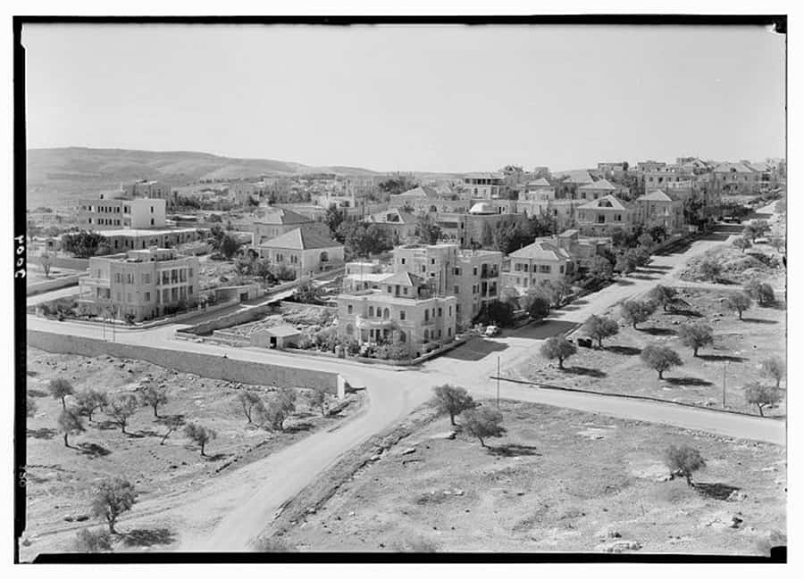 Newer Jerusalem and suburbs Talbieh, a Christian Arab community. Unknown Photographer, approx 1920-1933 at Manofim Festival in Jerusalem